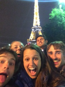 New friends around the Eiffel Tower